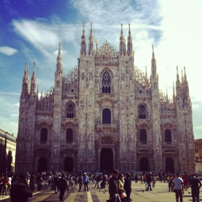 The first picture I took in Milan. Yes, I Instagrammed it...