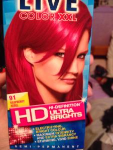 Raspberry Rebel hair dye